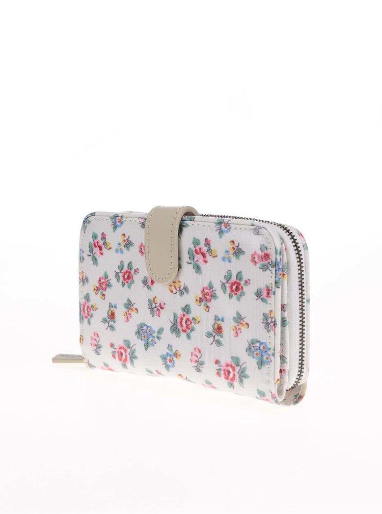 Biela peňaženka s farebnými kvetmi Cath Kidston