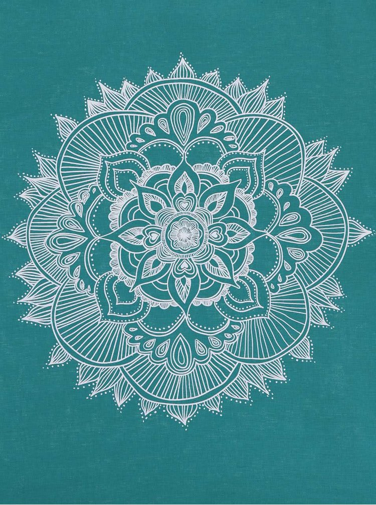 Tyrkysová plátěná taška ZOOT Originál Mandala