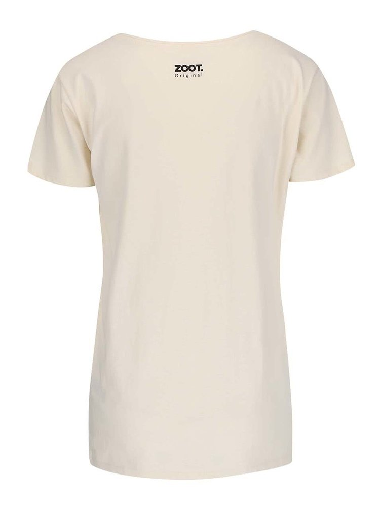 Krémové dámské tričko ZOOT Originál Here And Now