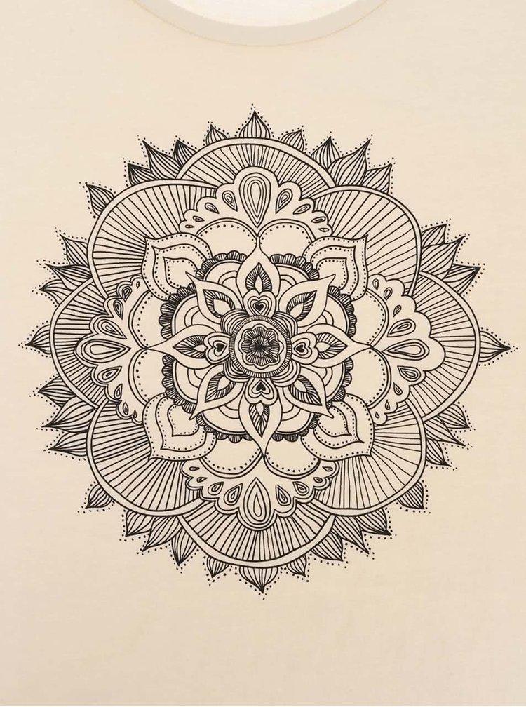 Krémové dámské tričko ZOOT Originál Mandala