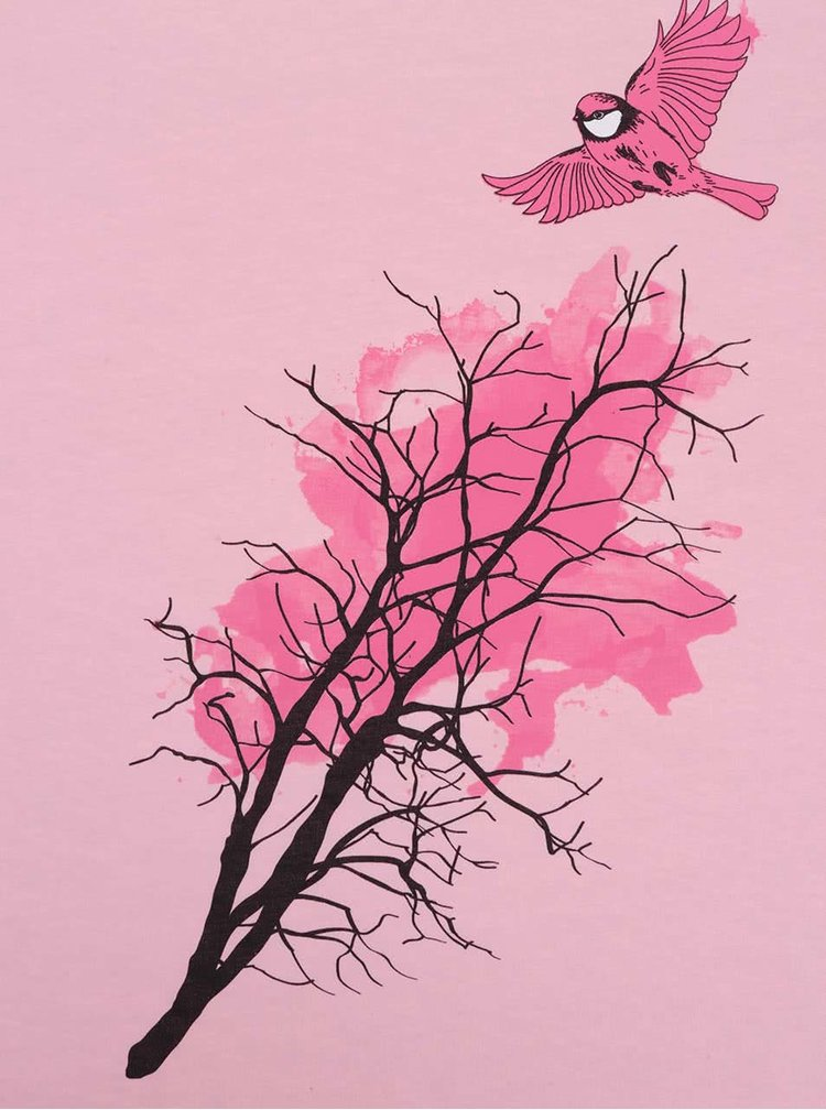 Tricou roz pentru femei ZOOT Original Pițigoi