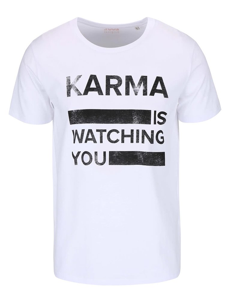 Biele pánske tričko ZOOT Originál Karma Is Watching You