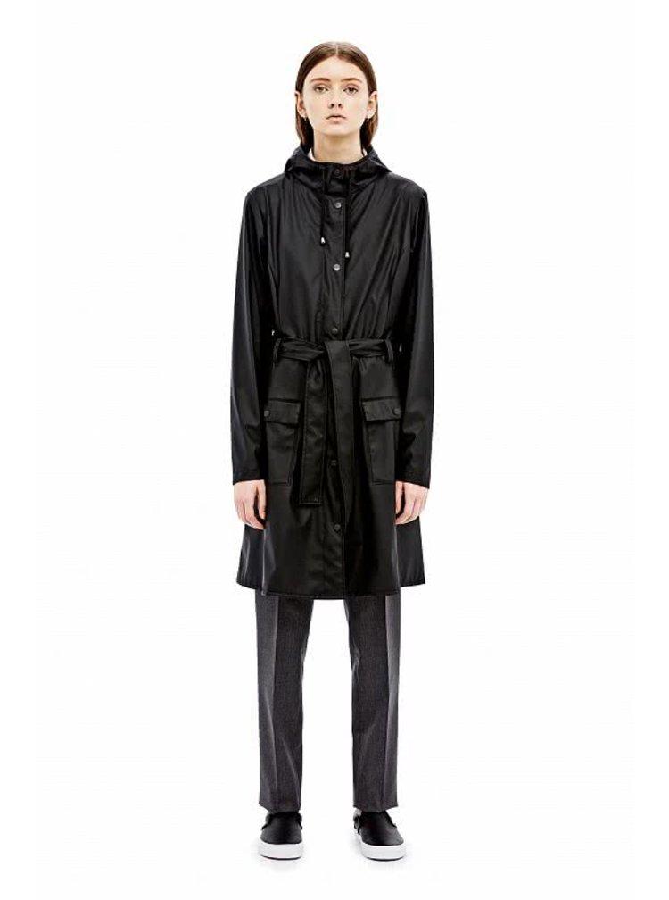 Černý dámský nepromokavý kabát RAINS