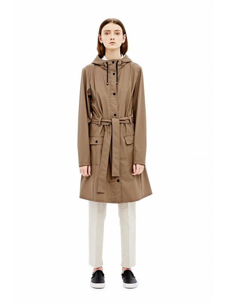 Hnědý dámský nepromokavý kabát RAINS