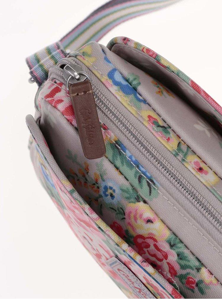 Sivá crossbody taška s kvetmi Cath Kidston