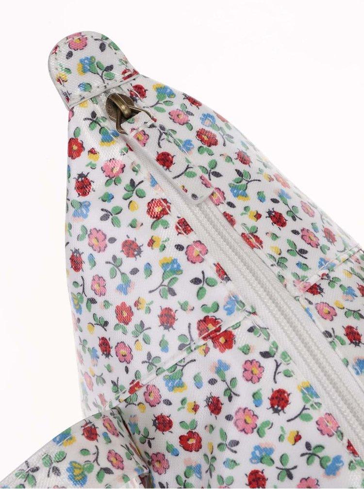 Biely kvetinový shopper Cath Kidston