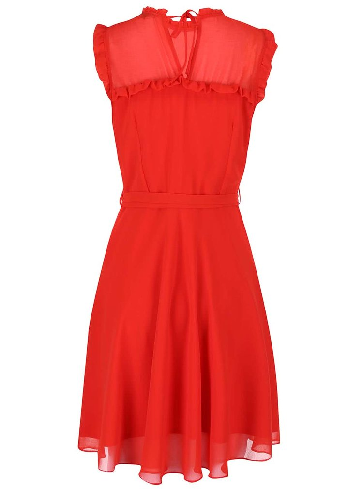 Rochie portocalie din sifon Dorothy Perkins