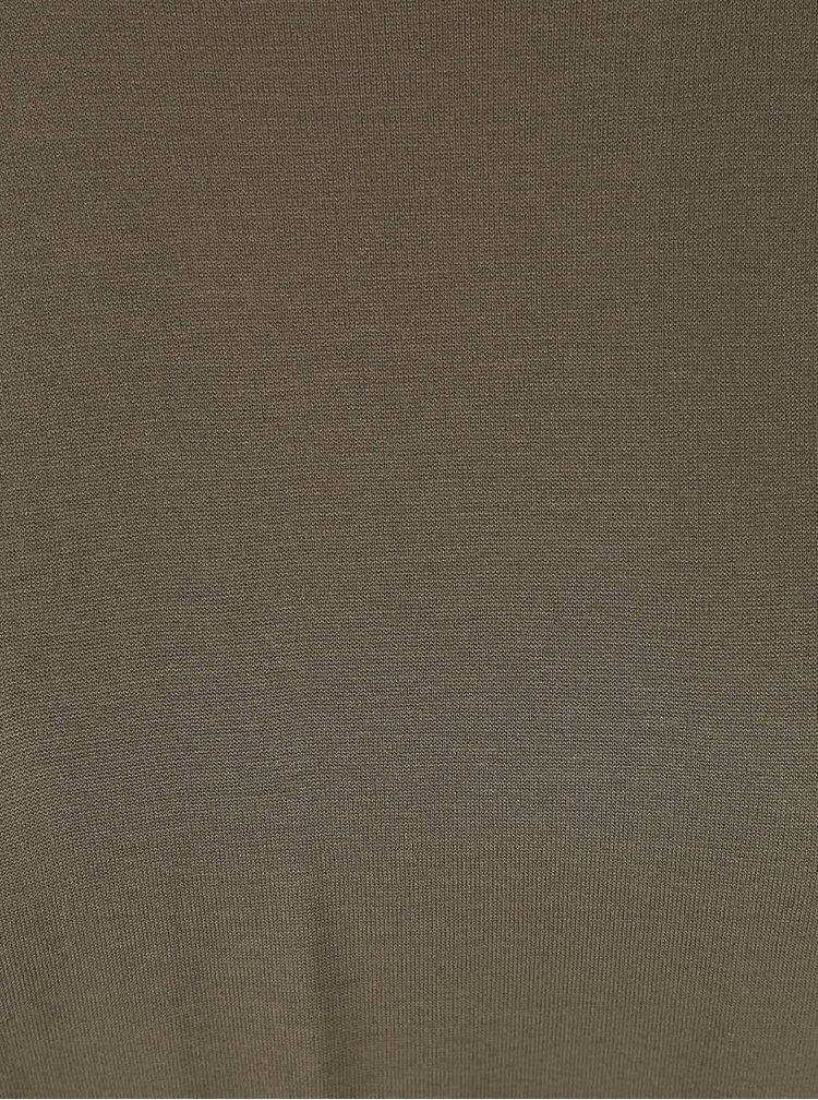 Khaki top s mašlí Dorothy Perkins