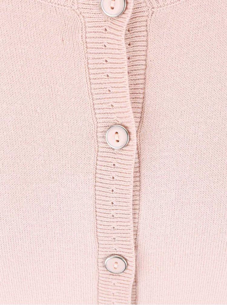 Světle růžový cardigan s knoflíky Dorothy Perkins