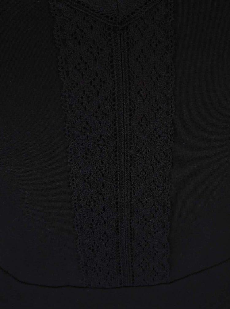 Rochie neagră cu decolteu din dantelă Dorothy Perkins