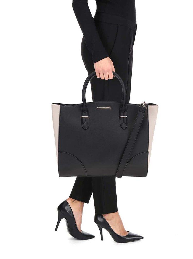 Krémovo-černý shopper Dorothy Perkins