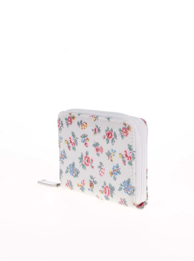 Bílá květovaná malá peněženka Cath Kidston