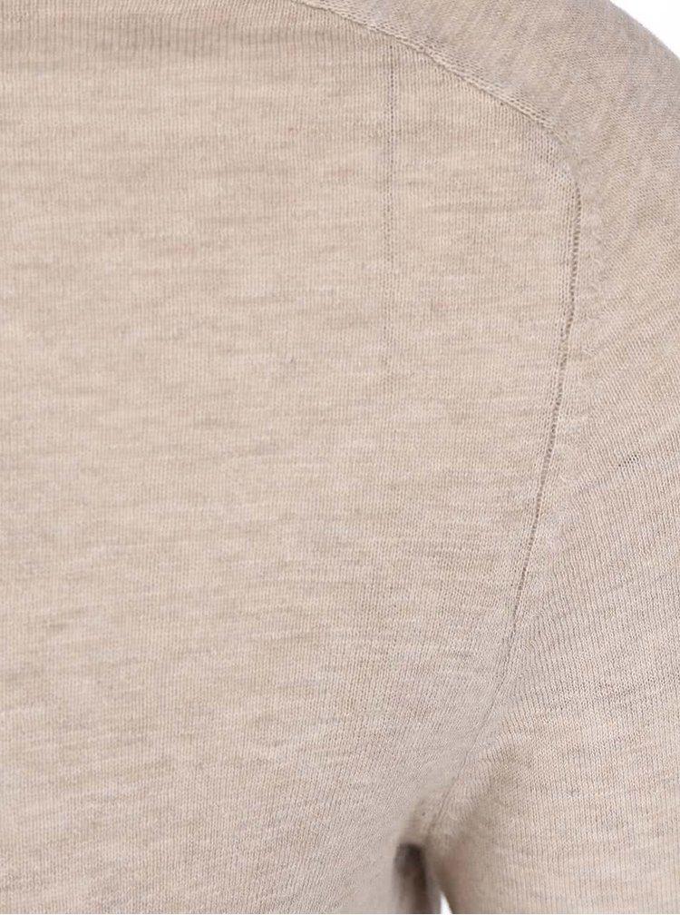Šedohnědý svetr Selected Enton