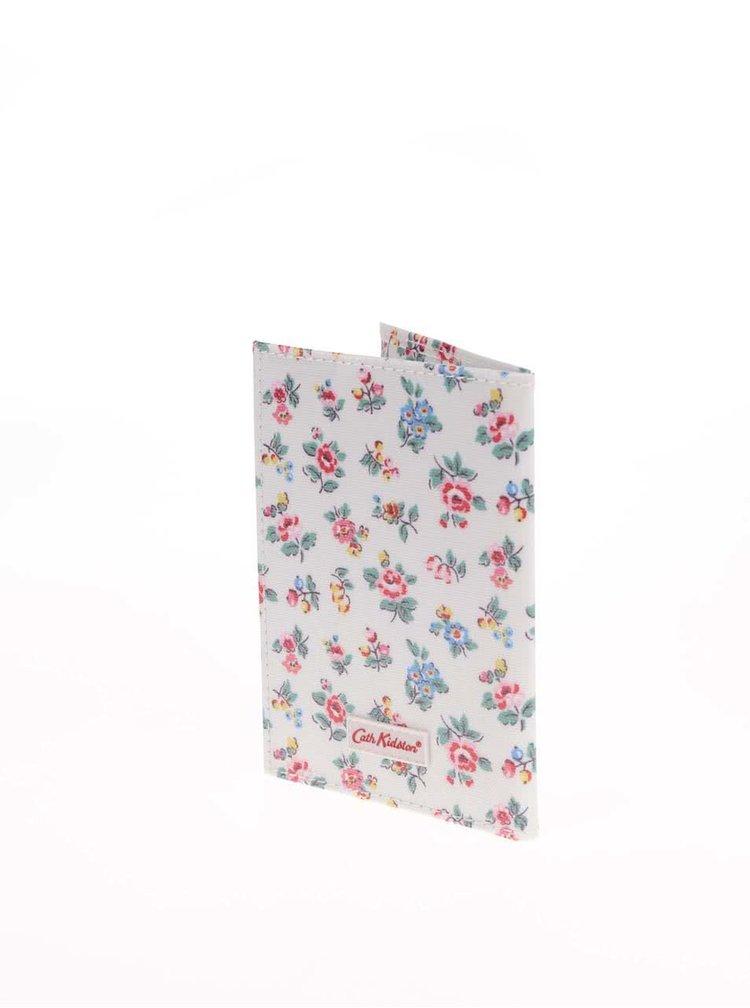 Biele kvetinové puzdro na doklady Cath Kidston