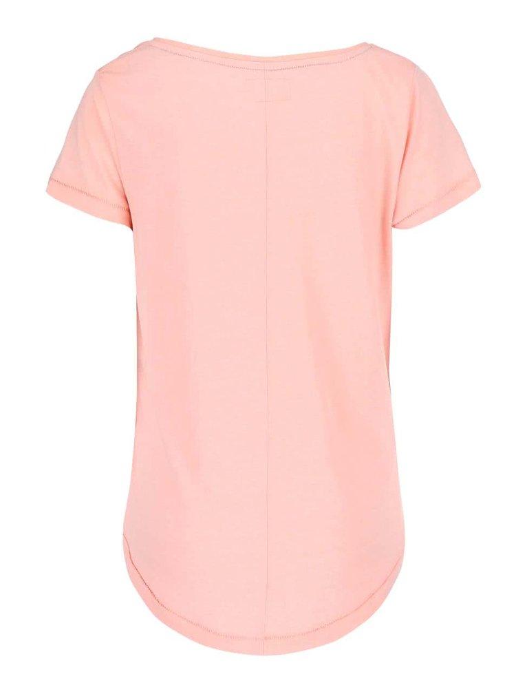 Ružové tričko s potlačou Desires Terklid