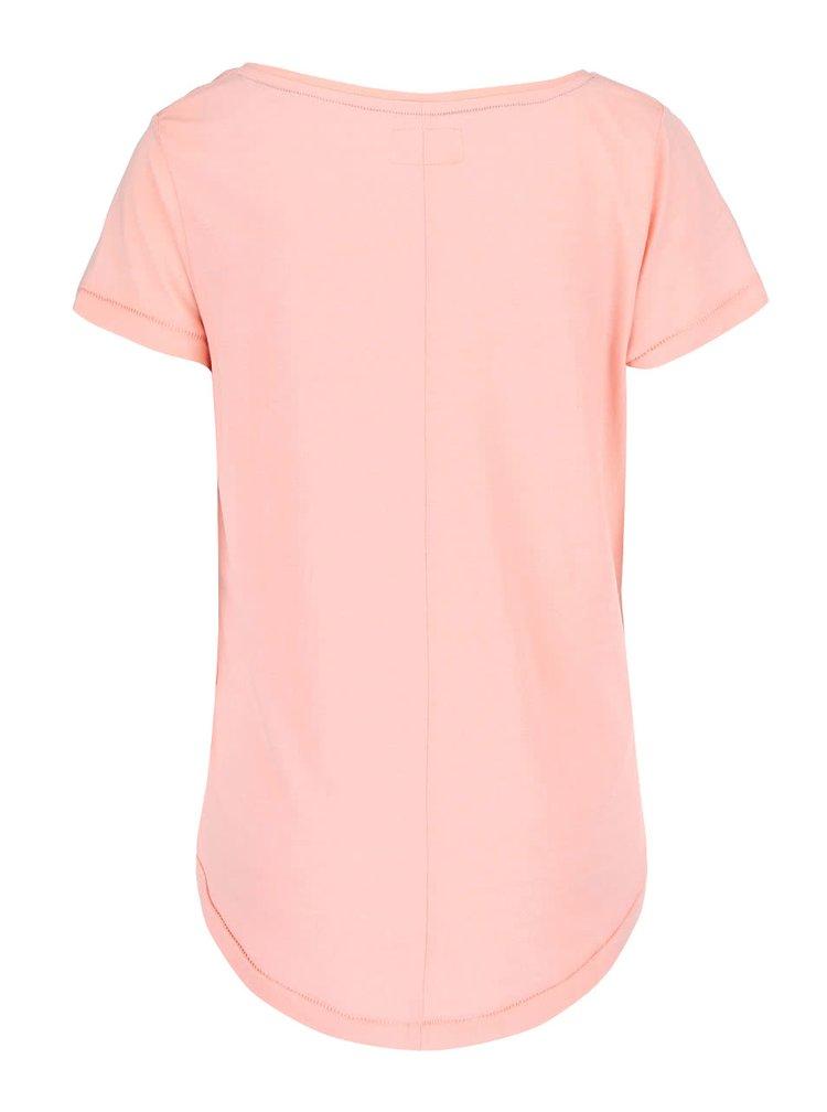 Ružové tričko s potlačou Desires Terklid 2