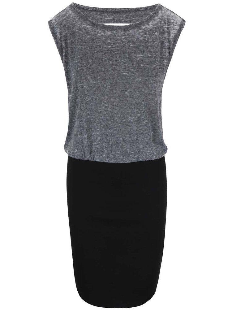Černo-šedé šaty s oversized topem Desires Daisy