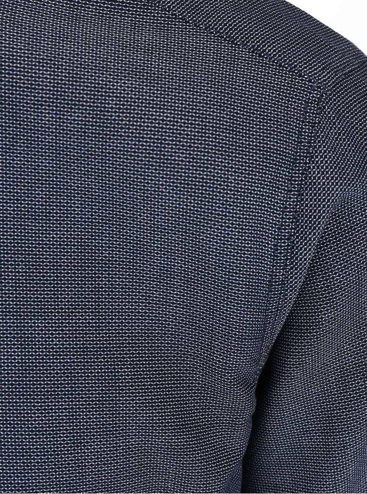 Tmavomodrá vzorovaná košeľa Selected Bow