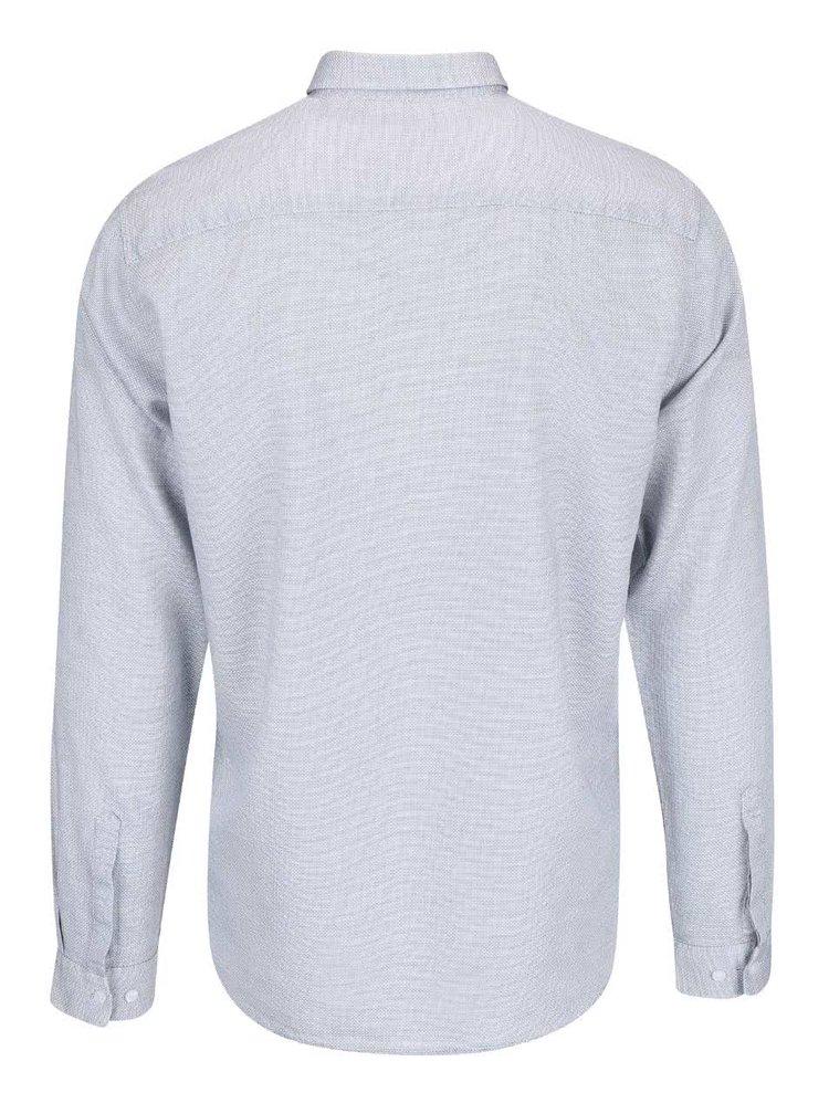 Sivomodrá košeľa Selected Homme Bow
