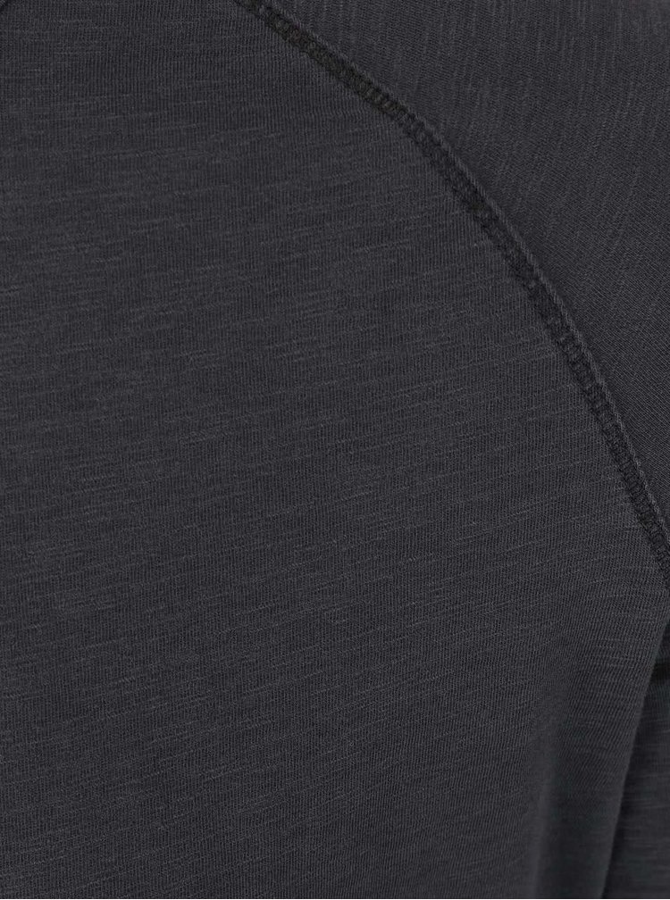 Tmavosivé tričko s dlhým rukávom Selected Homme Tobi