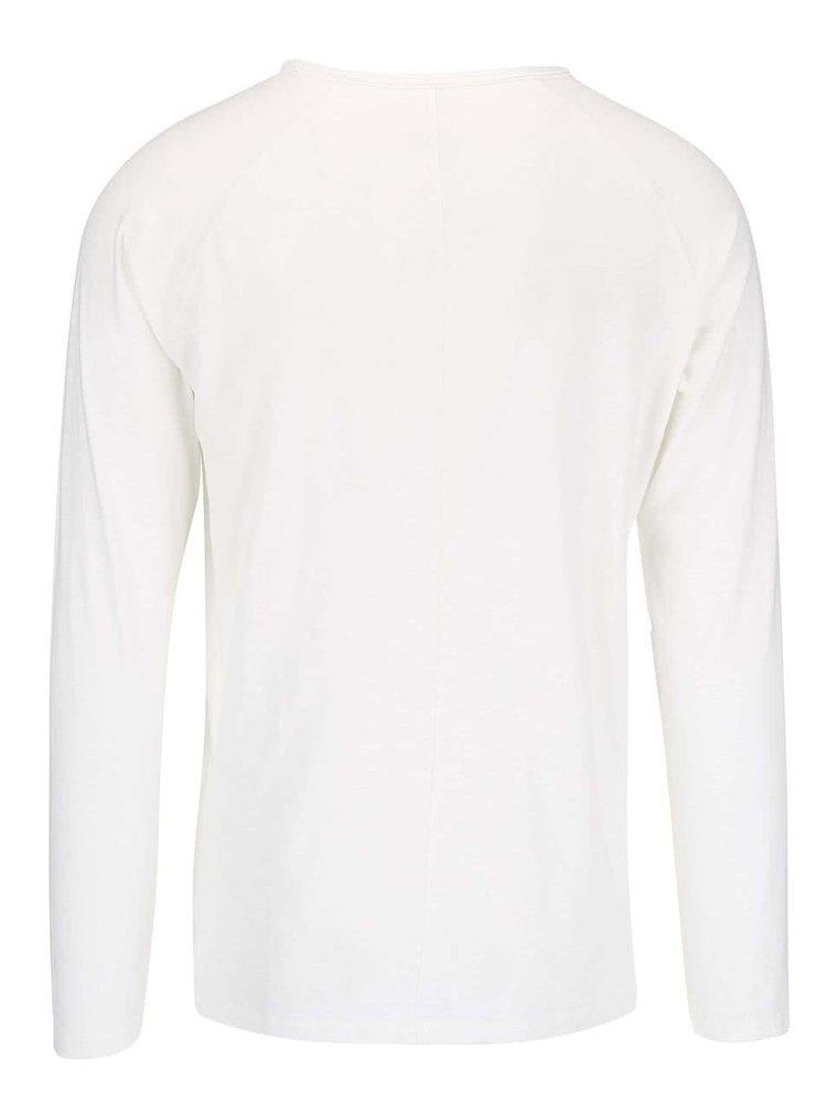Bluză cu mânecă lungă bărbătească crem Selected Tobi