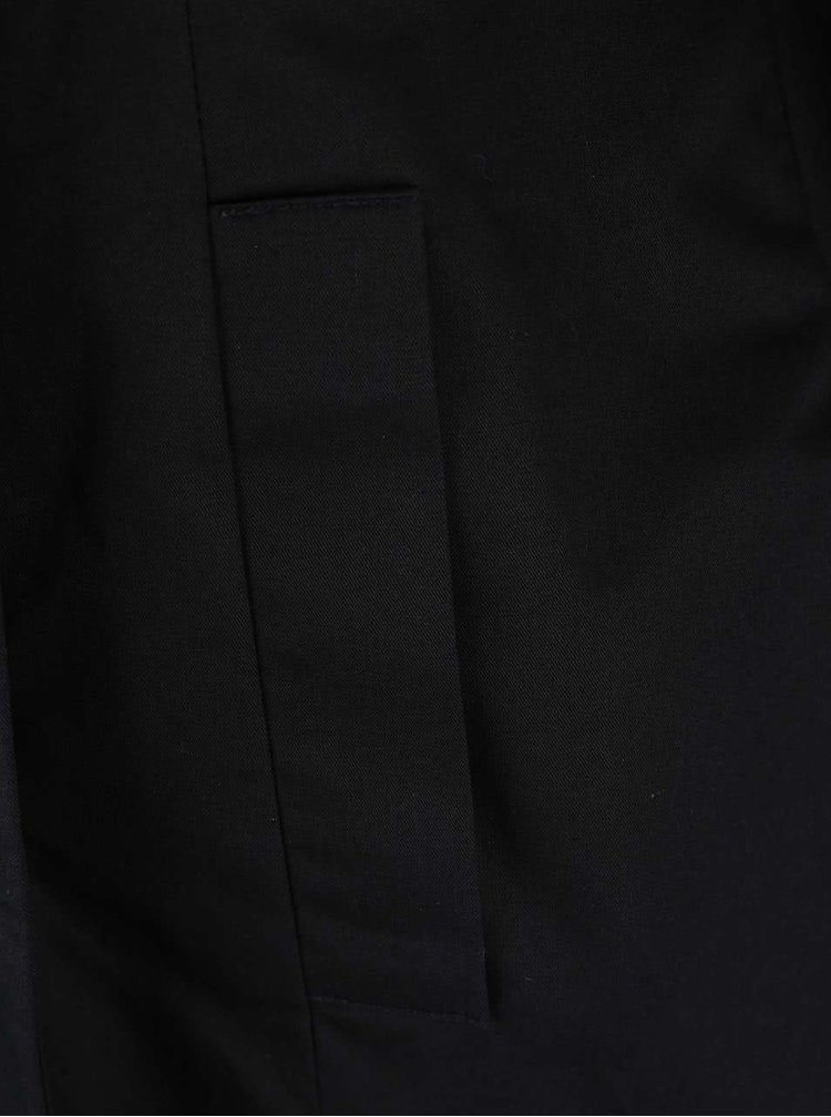Černý trenčkot s dvouřadým zapínáním VERO MODA Bea