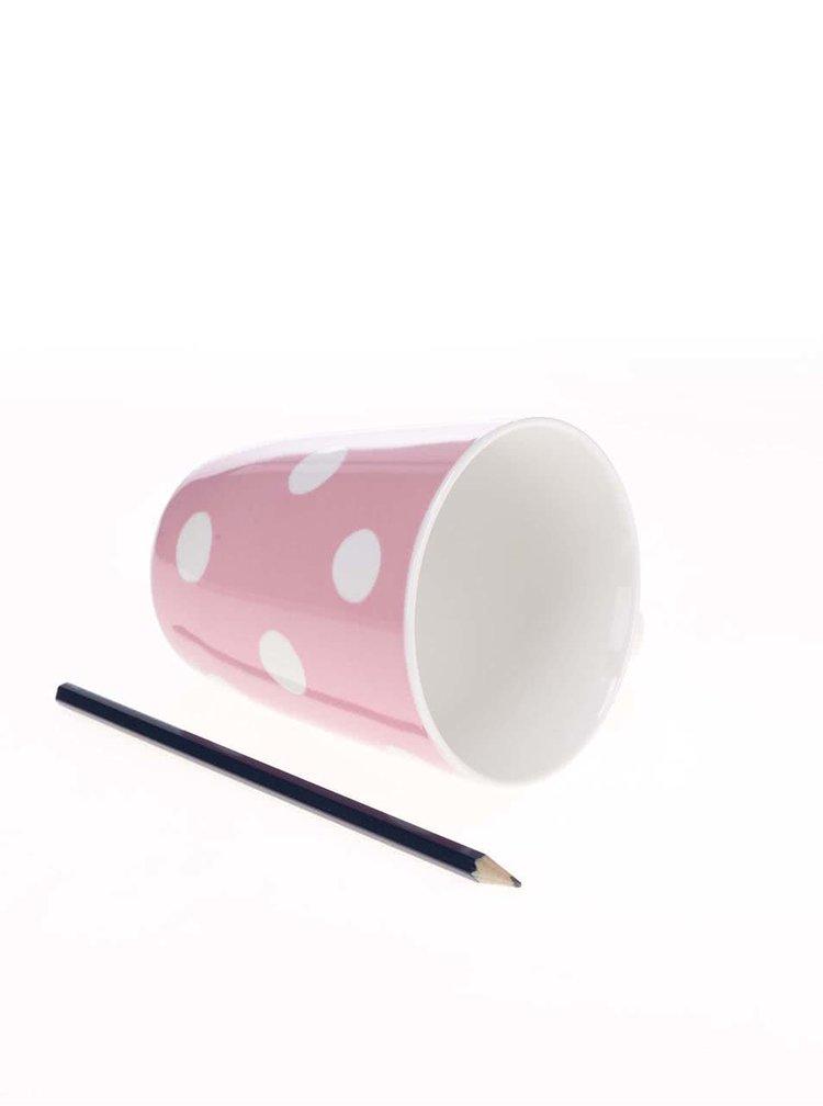 Růžový puntíkovaný hrnek Cath Kidston