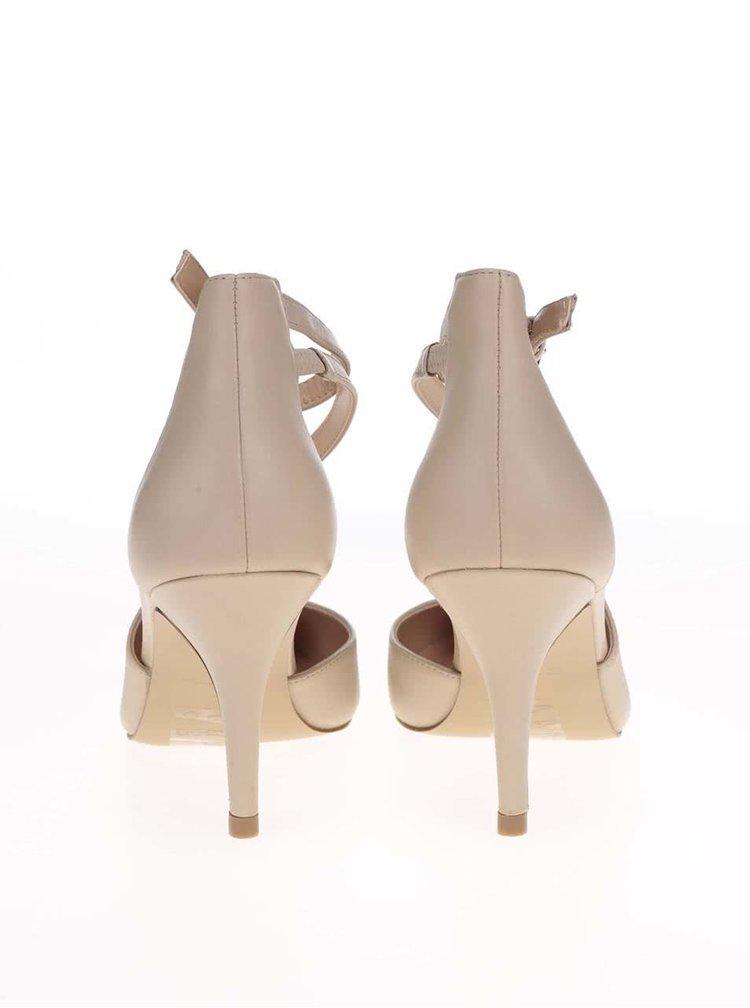 Pantofi bej din piele cu vârf ascuțit ALDO Badollan