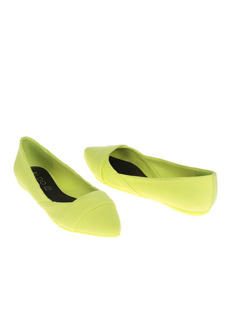 Neonově žluté baleríny ALDO Maida
