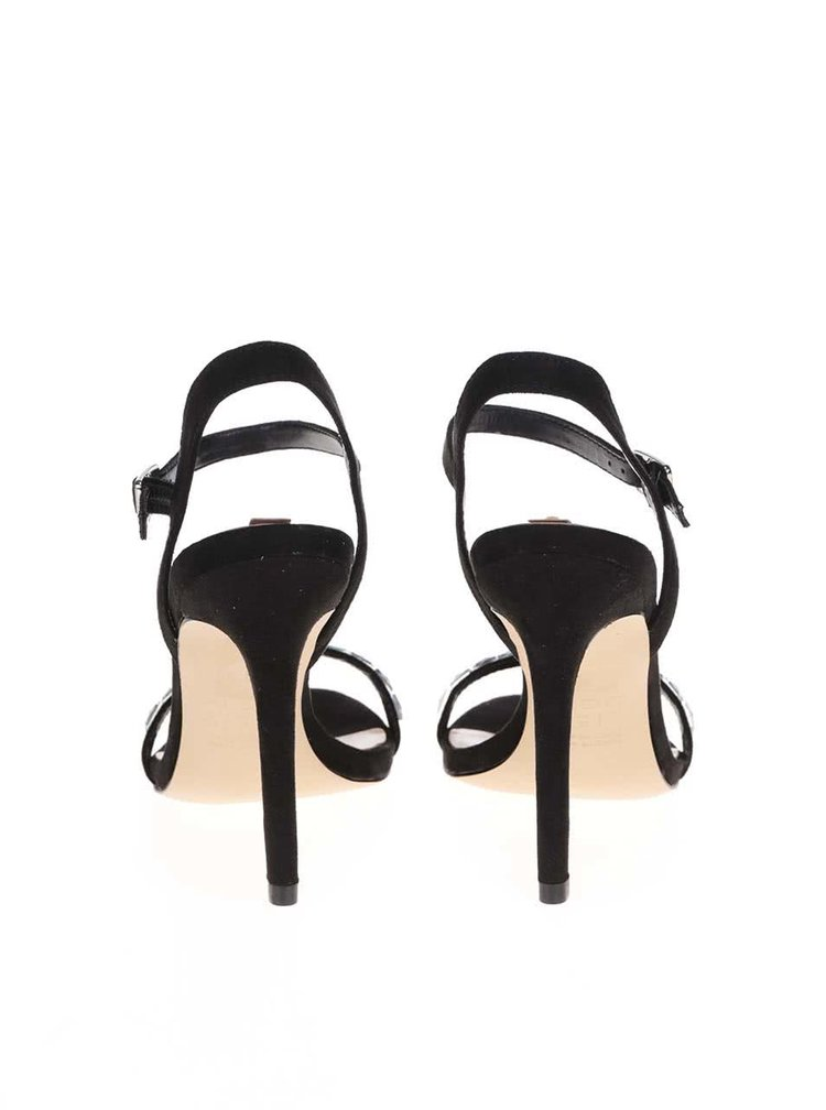 Čierne zdobené sandálky ALDO Edilisien
