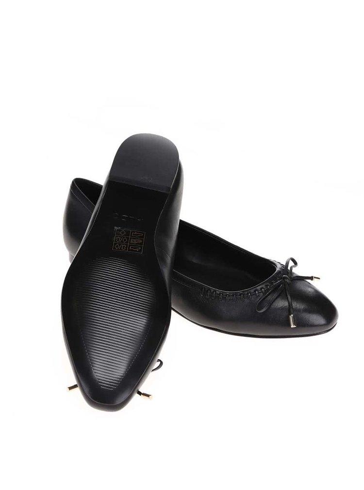 Čierne kožené balerínky ALDO Aessa