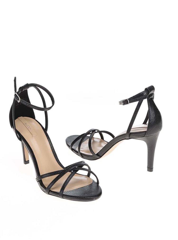 Černé sandálky na podpatku ALDO Crewien