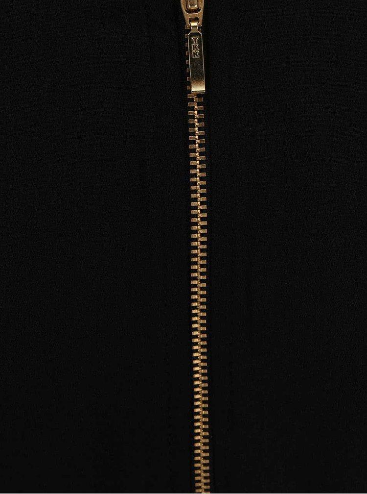 Čierne šaty s krátkym rukávom Closet
