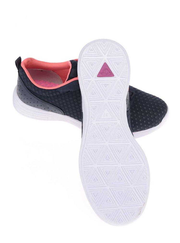 Pantofi sport Tamaris albaștri cu șireturi roz