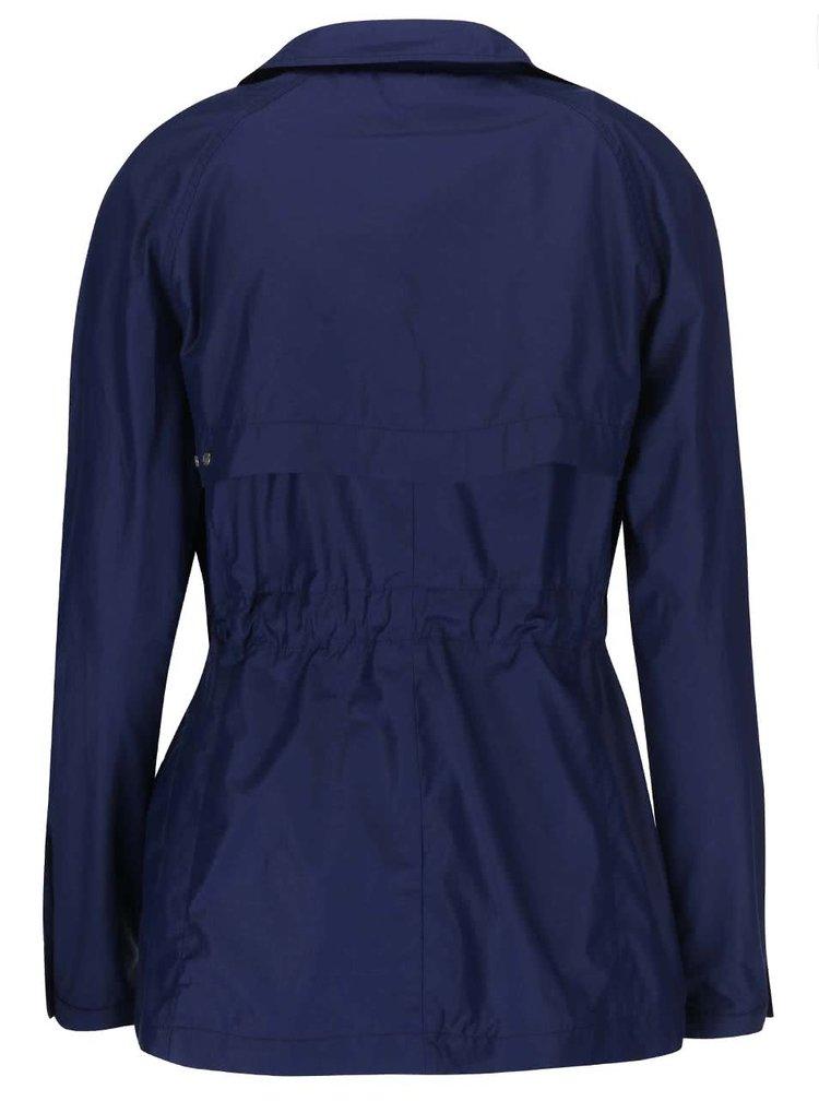 Modrý dámsky kratší kabát bugatti