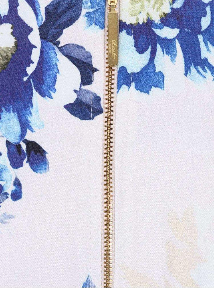 Modro-biele kvetinové šaty s opaskom Closet
