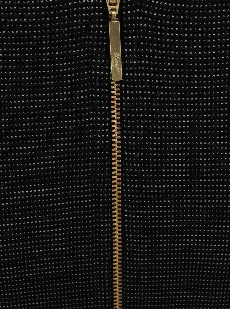 Čierne melírované puzdrové šaty Closet