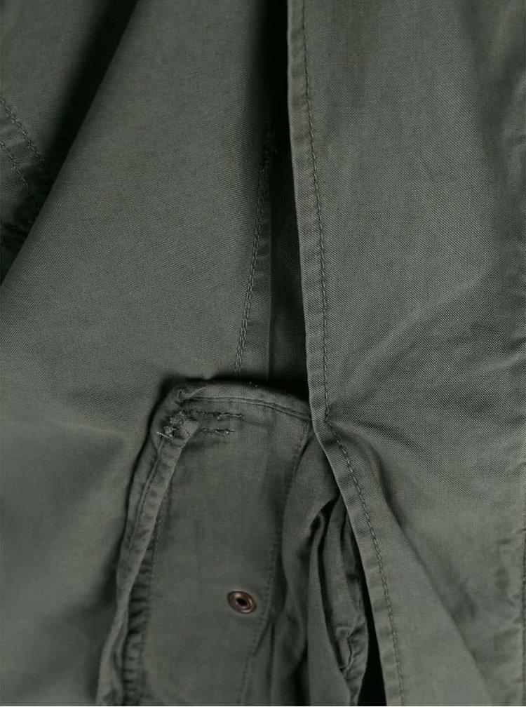 Khaki lehčí bunda Only Aubrey