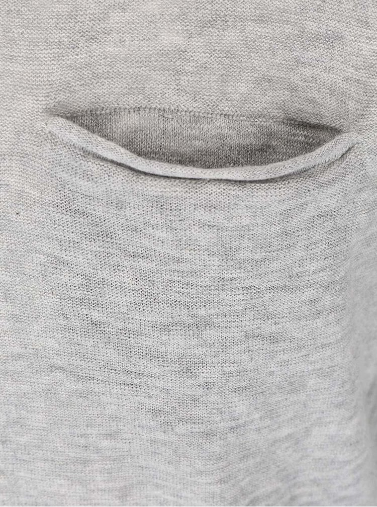 Šedý svetr s kapsou ONLY & SONS Ian