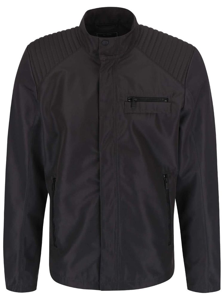 Jachetă ONLY & SONS Lasse neagră cu guler