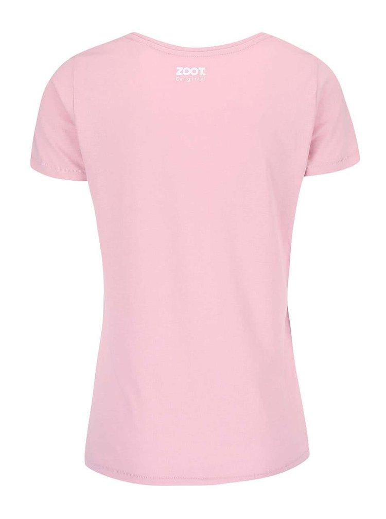 Ružové dámske tričko ZOOT Originál Relax