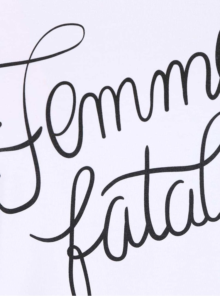 Tricou ZOOT Original Femme Fatale alb pentru femei