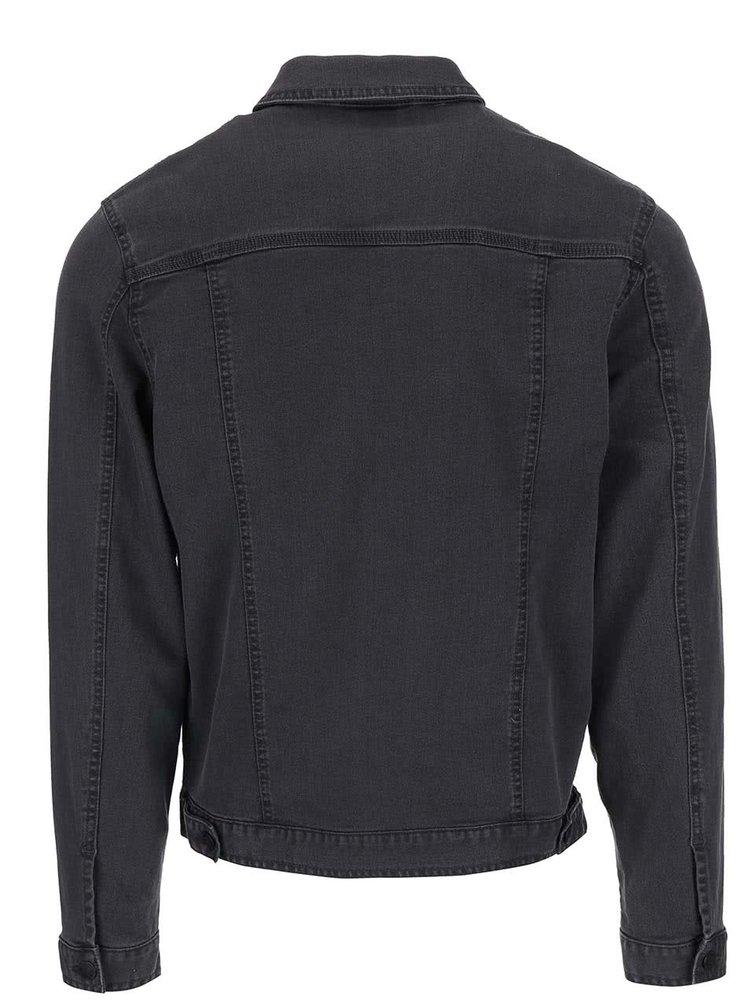 Tmavě šedá džínová bunda !Solid Jude