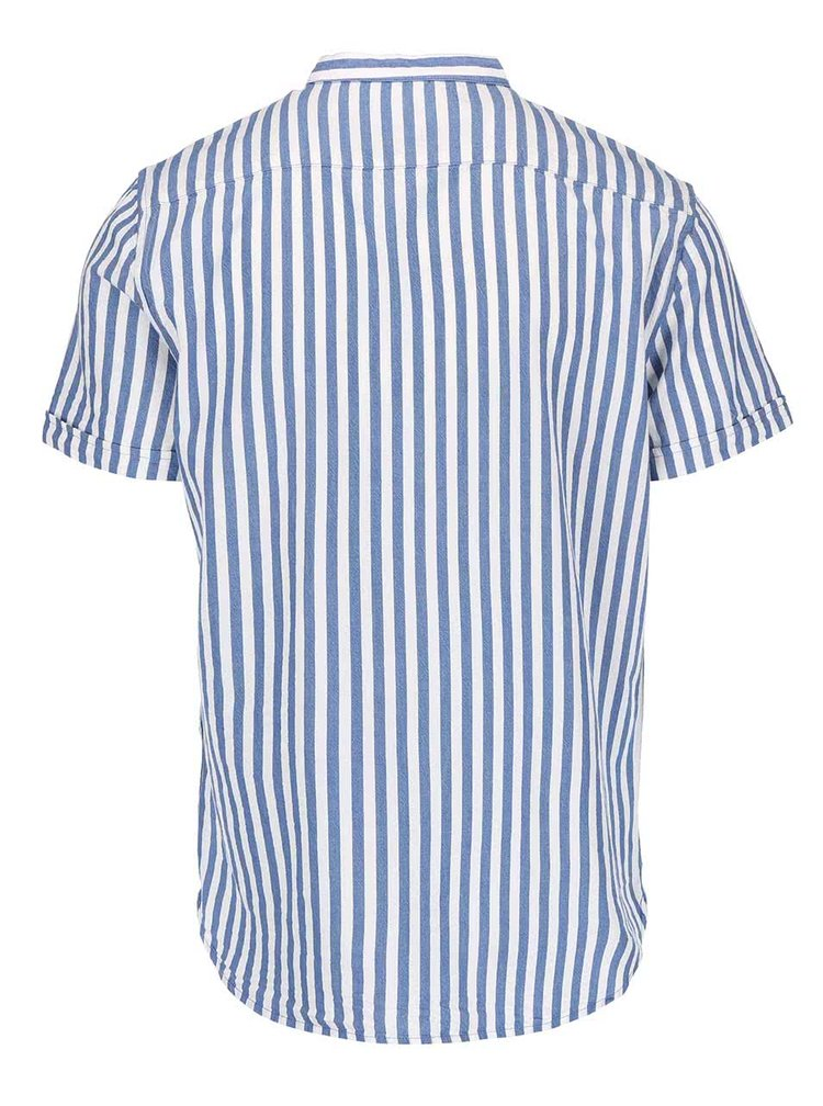 Cămașă cu mânecă scurtă Casual Friday de by Blend albastru cu alb