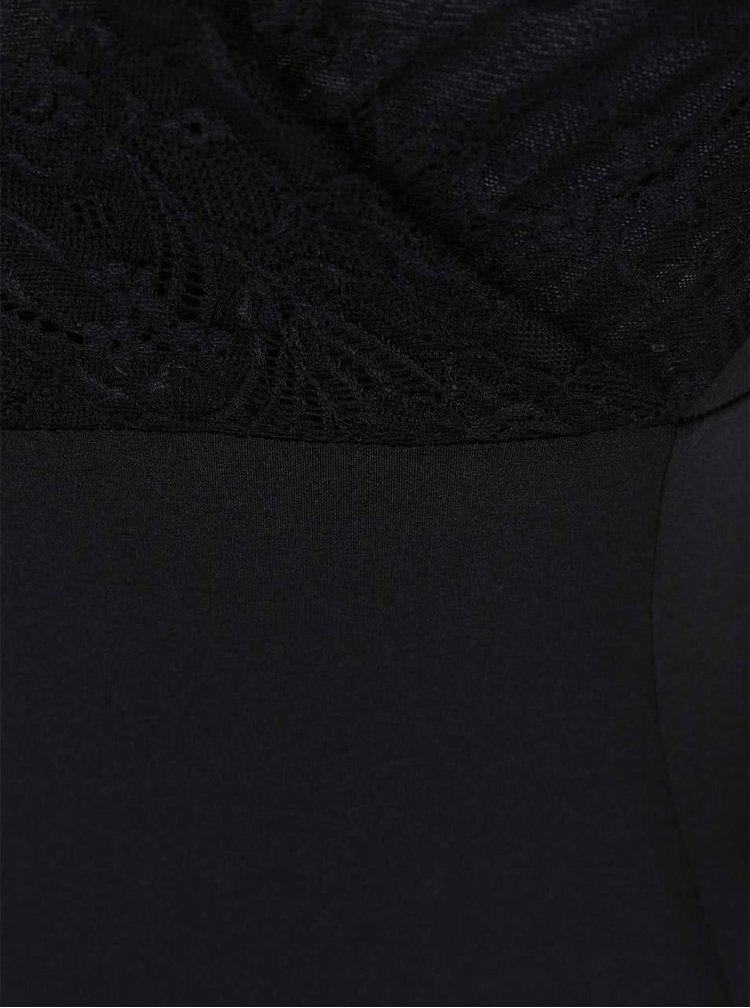Body Y.A.S Coco cu mânecă lungă din dantelă neagră