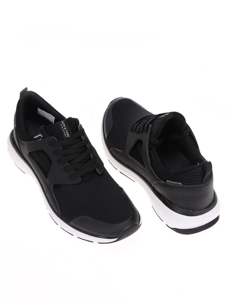 Jack & Jones Hatton Black Trainers with White Sole