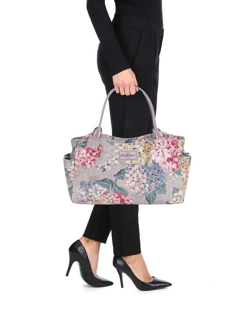 Sivohnedá kvetovaná menšia taška Cath Kidston