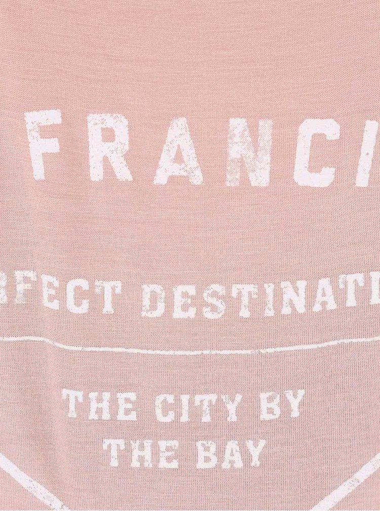 Tricou Mama.licious Dalla roz cu imprimeu San Francisco