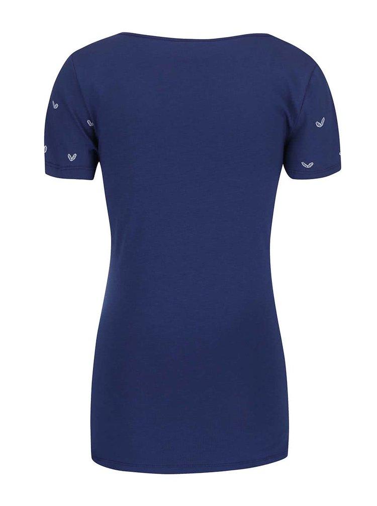 Modré vzorované tričko Mama.licious Ada