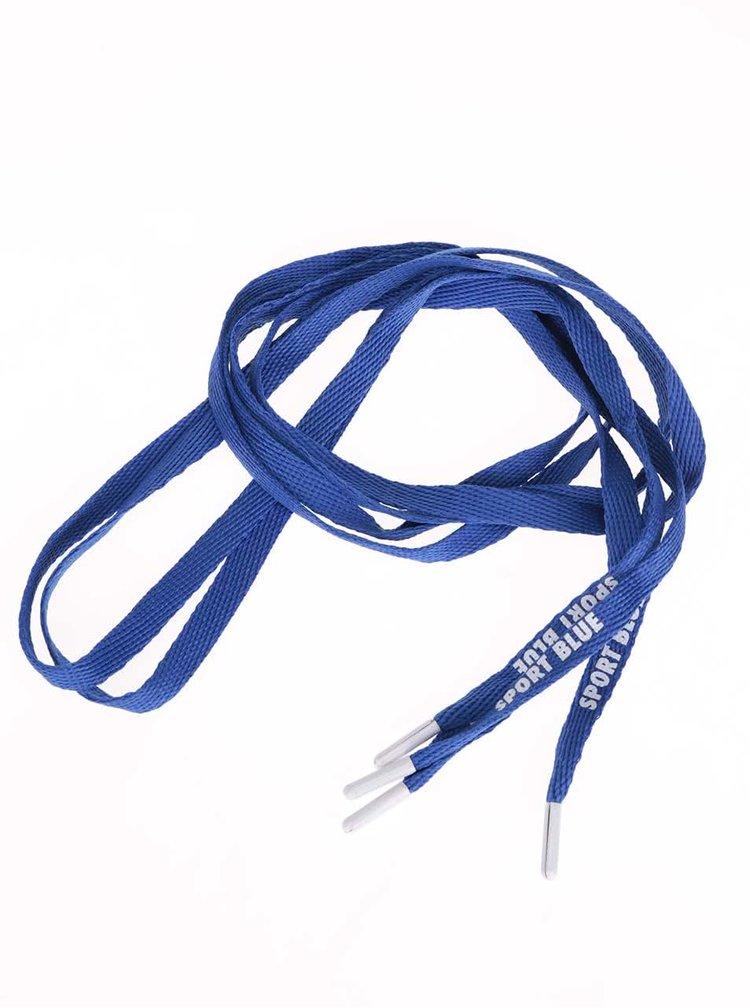 Modré šnúrky s bielymi koncami Tubelaces (130 cm)
